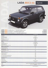 2018 MY Lada 4x4 3 door 10 / 2017 catalogue brochure Slovakia Slovaquie Niva