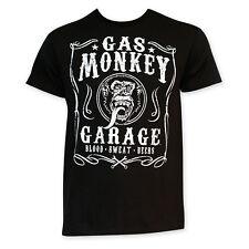 Gas Monkey Men's Blood Sweat Beers Tee Shirt Black