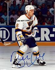 BRETT HULL 8X10 AUTHENTIC IN PERSON SIGNED AUTOGRAPH REPRINT PHOTO RP