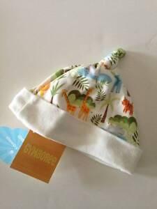 NWT Gymboree In the Jungle Cotton Knit Animal Print Cap 3-6 M