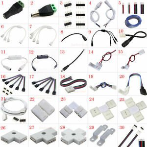 2Pin 4Pin 5pin LED Strip RGB RGBW Extension Cable Wire Adapter Clip Connector