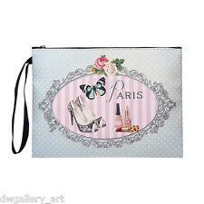 Vintage Boudoir Paris Shoe Fashion/Make-up Style Cosmetic/Washbag. CS50