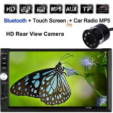 """New listing Double 2 Din 7"""" Car Stereo Dvd Mp3 Mp5 Player Hd In Dash Bluetooth Radio +Camera"""