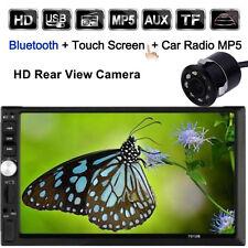 "Double 2 Din 7"" HD Car Radio MP5 MP3 Player Bluetooth Stereo+Backup Cam 7012B LS"