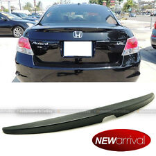 For 08-12 Honda Accord 4DR Sedan OE Style Unpainted Rear Trunk Lip Wing Spoiler