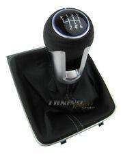 Bleu Cuir 6-Gang Vw Golf 7 / Sportsvan Original Édition Pommeau Bouton Aluminium