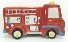 Fire Truck Coin Bank Andrea by Sadek Engine No 1 Piggy Savings