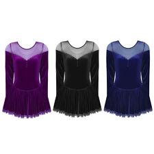 US Women Girls Figure Skating Ballet Dance Gymnastics Leotard Dress Party Skirts