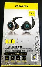 AWEI T1 IPX4 Waterproof TWS In-Ear Bluetooth Earphone Stereo EarbudsHeadset GOLD