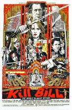 """Kill Bill Volume 1 II Movie Poster 40"""" x 27"""" High Quality Canvas Art Print"""