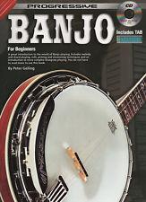 Banjo pour les débutants progressive apprendre à jouer de la musique Tab tuteur Livre & CD