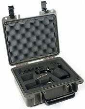 Black Seahorse SE300FP1 pistol case and Pelican TSA- 1200 Lock.