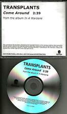 Blink 182 TRANSPLANTS Come Around Ultra Rare TST PRESS PROMO DJ CD single Rancid