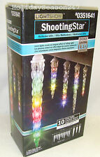 Gemmy Lightshow 10 Multi LED Falling Shooting Star Christmas Icicle Light Decor