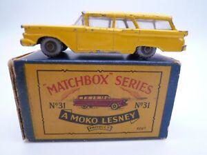 VINTAGE MATCHBOX LESNEY No.31b FORD FAIRLANE STATION WAGON IN ORIGINAL BOX 1960