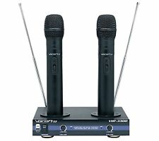 VocoPro VHF 3300 Dual Mic Recharge Wireless Microphone