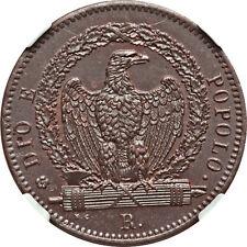 Roman Republic 1849-R 3 Baiocchi NGC MS-63 BN