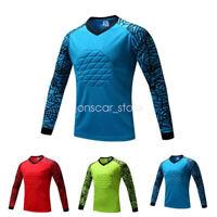 Kid Adult Sport Soccer Football Goalkeeper Padded Goalie Long Sleeve Jersey Top