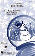 Blue Christmas Elvis Presley Noten für Chor SATB/PF Mac Huff (Arr.)