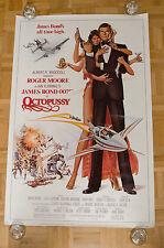 Octopussy James Bond 007 Original Movie Poster Roger Moore US 1sheet ROLLED RARE