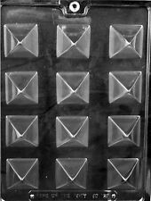 AO129 Small Pyramid Chocolate Candy Soap Mold with Instructions