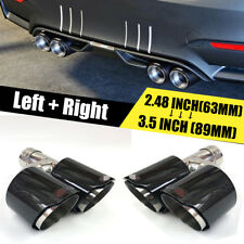 Carbon Fiber Exhaust Pipe Tail Muffler Tip Left + Right 2.48inch - 3.5 inch out