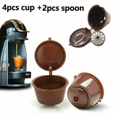 4Pcs Refillable Coffee Capsule Cup For Dolce Gusto Nescafe Reusable Filter Pods