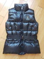EUC girls ADD DOWN winter down black vest size XS 8-12 years