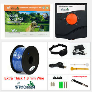 Waterproof Electric Dog Fence Hidden Rechargeable Pet Containment Kit Add Dogs