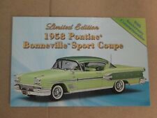 Danbury Mint Brochure 1958 Pontiac Bonneville Sport Coupe LE