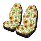 1/2Pcs Universal Car Front Row Seat Cover Seat Mat Flower Printed Protector