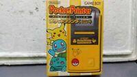 Nintendo Pocket Printer Pikachu Yellow Pokemon for Game Boy 1998 w/box japan