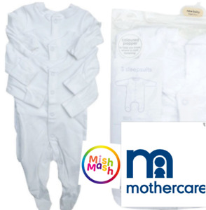 Mothercare Toddler Girls//Boys Babygrow Rooper All in One Pyjama Sleepsuit Night