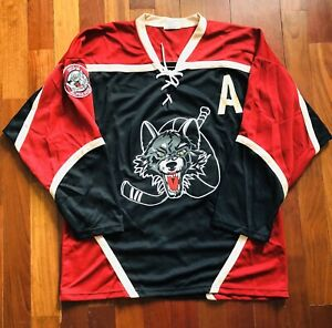 Chicago Wolves Alpha Wolf Ticket Holder AHL Hockey Jersey LARGE