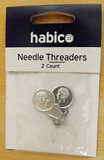 HABICO Haberdashery 2 x NEEDLE THREADERS - Makes Threading a Needle Easy - HO/1