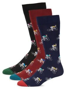 New Paul Smith 3-pack rabbit bicycle socks, made In Italy.