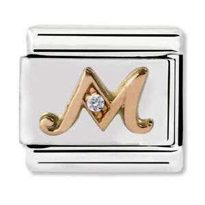 GENUINE Nomination Classic Letter M Rose Gold Steel Charm 430310/13 / £29 RRP