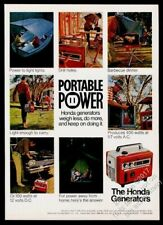 1969 Honda generator portable power 8 color photo vintage print ad