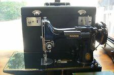 Singer 221 Featherweight Sewing Machine 100th Ann. 1851-1951 w Case & Tools Keys