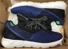 adidas Tubular Runner Lush Ink Blue Black White NMD Ultraboost AQ2916 Sz 10.5
