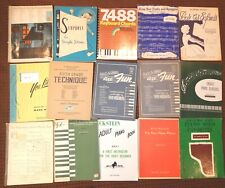 15 Pieces Sheet Music Song Books Piano Instruction Course Children's Adult Mix