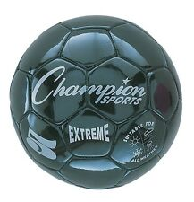 Champion Sports Extreme Soft Touch Butyl Bladder Soccer Ball, Size 5, Black