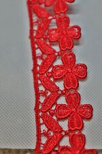 Colour Full Cotton Lace Trim Blood red colour 1.5 Inch thick