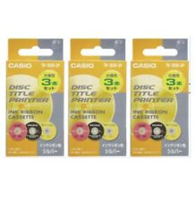 Casio Disc Title Printer Ink Ribbon TR-18SR-3P Silver 3 Pack 3 Boxes New Japan