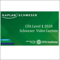 Kaplan Schweser Notes CFA 2020 Level I Premium Study Package + Video Lectures