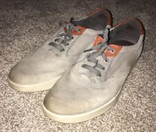 Ecco 45 Real Leather Casual Gray Shoes Mens Size 11