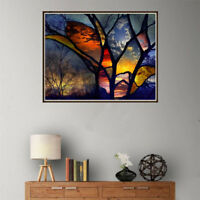 DIY 5D Diamond Painting full drill colorful forest Embroidered Cross Stitch FF