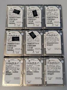 "100% Health LOT of 9 160GB SATA 2.5"" Hitachi Laptop Hard Drives Free Shipping!"