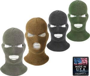 Acrylic Tactical Three Hole Face Mask Military Ski Mask Balaclava USA Made