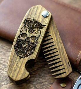 Groomsmen Wood Comb Hair Beard Comb Groomsmen Gifts Beard Man Gift Personalized